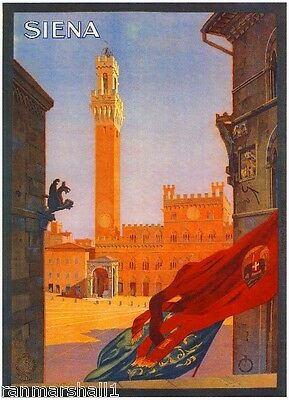 Siena Italy Vintage Art Travel Advertisement Poster Picture Print