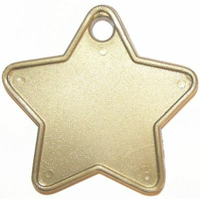 Celebrations & Occasions 5 x Gold Star Shaped Solid Balloon Weight 150g