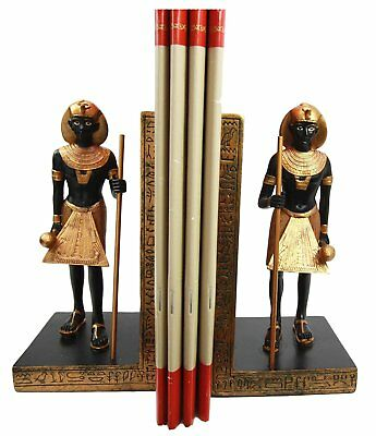 Egyptian Royal Guardian of King Tutankhamun Bookends Set of Two Figurine Statue