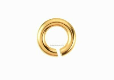 4x SOLID 18k Yellow Gold 24ga gauge 2.4mm Open Jump Ring US 14k PLT also listed