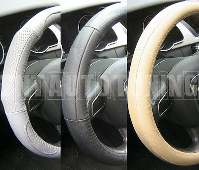 Leather Steering Wheel Cover - Black Beige Grey Vauxhall Astra F G H GSI Calibra