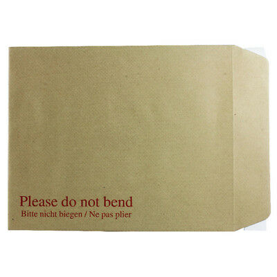 Q-Connect Board Back Envelope 267 x 216mm 115gsm Peel And Seal Manilla (Pack of