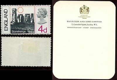 Gb 1966 Essay...country Definitive England Pictorial Stonehenge Gummed + Perf
