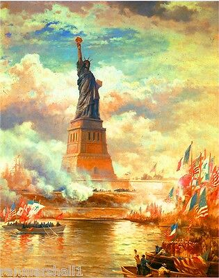 1880s The Statue of Liberty Vintage New York City Advertisement Poster Art Print