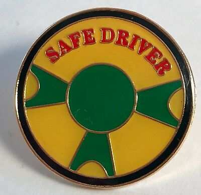 """SAFE DRIVER"" Drivers Ed/Bus Driver Lapel Pins (25) NIB"