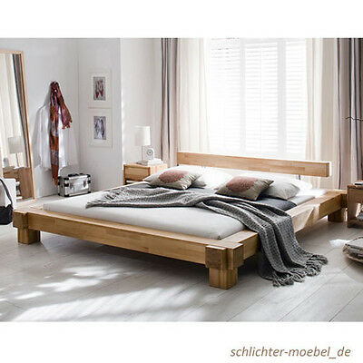 vollholzbett bettgestell doppelbett 180x200 kernbuche. Black Bedroom Furniture Sets. Home Design Ideas