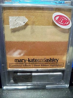 2 Mary Kate and Ashley Luminous Effects Sheer Ribbon Highlighter Bronze Ribbons