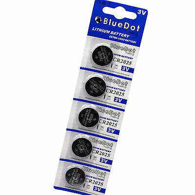 5pcs x CR2025 CR2025 3V Cell Coin Button Lithium Battery New ~Ships from US