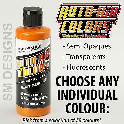 Auto Air Custom Airbrush Paint 120ml Graphic Colors Water Based Multi Surface