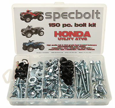 150pc Honda Bolt kit Utility ATV Foreman Rancher Rubicon 4X4 Rincon Scape Recon