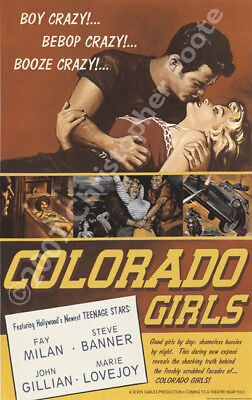 Colorado Girls - Vintage 1950s Style Pulp Movie Poster