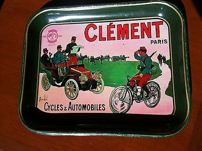 Vintage Clement Cycle And Automobile Tin Tray, Great Collectors Item.