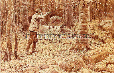 Antique Photo 8X10 Reproduction A B Frost Photograph Print Grouse Hunting 2