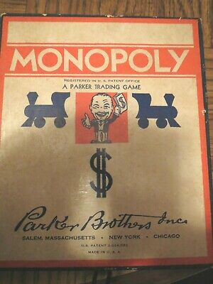 VINTAGE 1940's MONOPOLY GAME WITHOUT BOARD