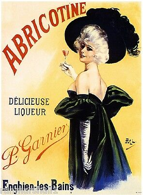 French France Abricotine Liqueur Wine Advertisement Art Vintage Poster Print