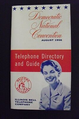 Democratic National Convention 1956 Telephone Directory & Guide