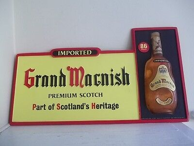 Vintage Imported Grand Macnish Premium Scotch Store Advertising 3D Display