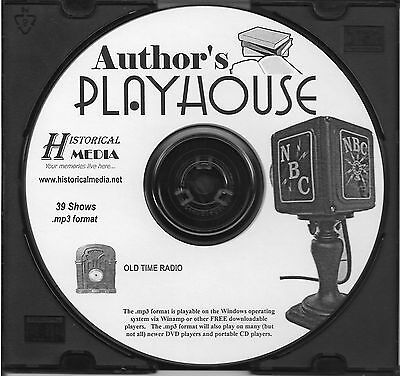 AUTHOR'S PLAYHOUSE - 39 Shows - Old Time Radio In MP3 Format OTR On 1 CD