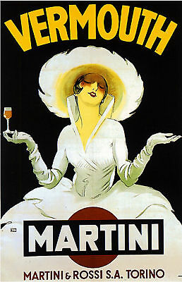 Vermouth Martini Liquor Advertisement Art Poster Print