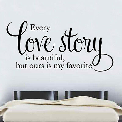 Every Love Story Decal Vinyl Wall Sticker Art Home Sayings Popular