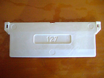 127mm VERTICAL BLIND WHITE BOTTOM WEIGHTS x 10 FOR SLATS DIY REPAIR