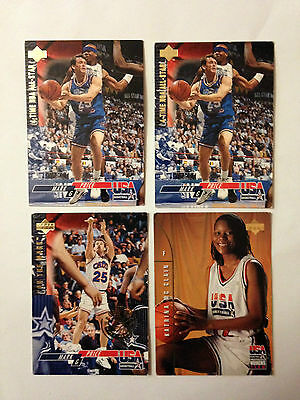 Lot 4 Cartes De Basket Upper Deck Special Usa 1994