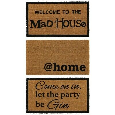 JVL PVC Backed Novelty Funny Coir Entrance Door Mat 33 x 60cm Outdoor Use