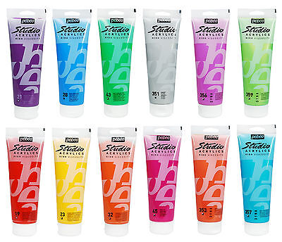 Pebeo Studio Acrylic Art & Craft Paint 100ml Tubes - 62 Colours Available (2/2)