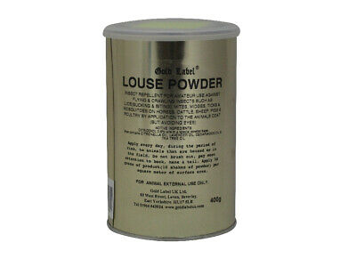 Gold Label Louse Powder x 400 Gm - Horse/Pony First Aid Care