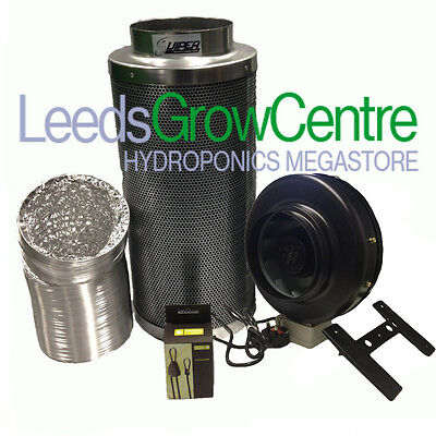 """8"""" High Power Inline Fan,carbon Filter And Ducting Kit"""