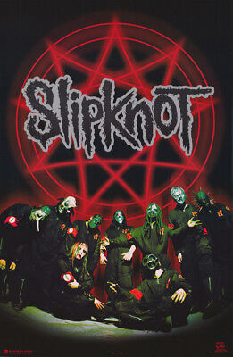 Poster : Music:  Slipknot - Pentagram Group -   Free Shipping !  #7607  Rc12 D