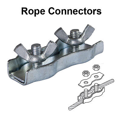 Electric Fencing Rope Connectors (Pack of 4)