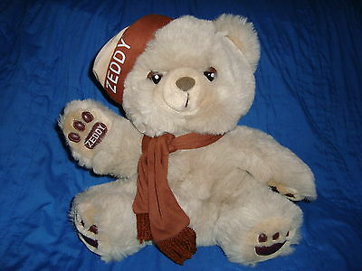 Zellers Mascot Teddy Bear ZEDDY W/ Scarf Plush 12""