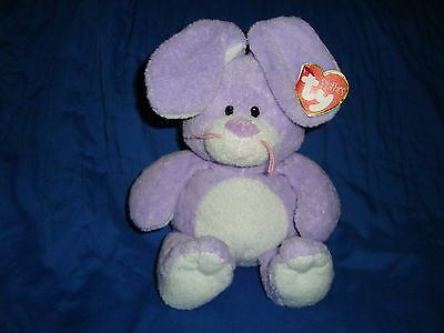 "TY PLUFFIES BUNNY RABBIT TWITCHES 2006 10"" w/tags"
