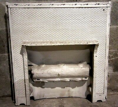 ~ Antique Cast Iron Fireplace Insert ~ Gas Logs ~ Ornate ~ Architectural Salvage