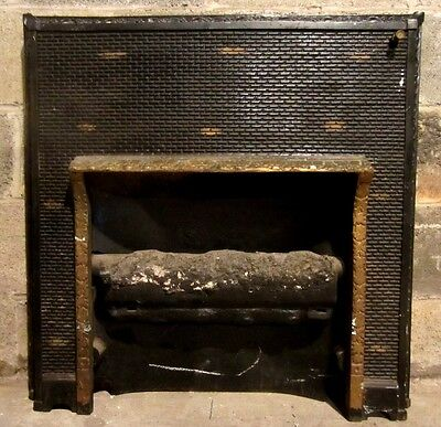 ~ Antique Cast Iron Fireplace Insert ~ Gas Log ~ Ornate ~ Architectural Salvage