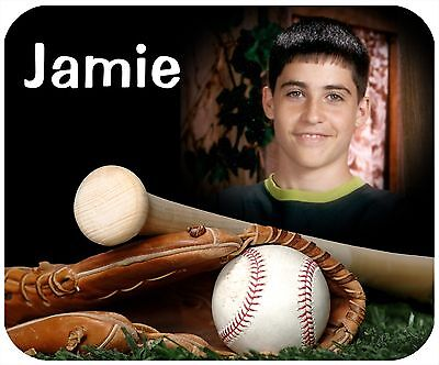 Photo Mouse Pad Custom Personalized Thick Mousepad-Baseball - Picture And Text