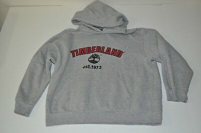 Timberland Est 1973 Gray Hooded Sweater Youth Kids Size 12