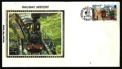 1985 JERSEY RAILWAY TRAIN COVER S31