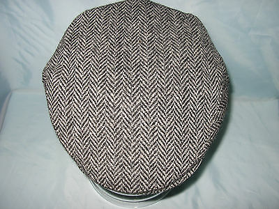 Gents 100% Wool Hand Woven  Harris Tweed Flat Cap / Driving Hat  From Scotland