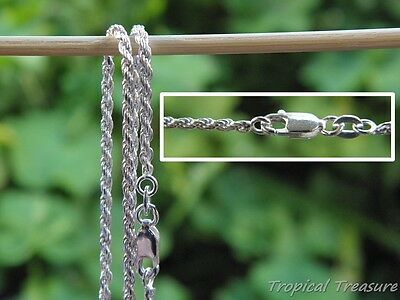 2.0mm French Rope Chain - 925 SOLID Sterling Silver