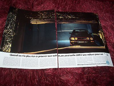 VOLKSWAGEN Golf GTI 16 1990 Publicité magazine/ Original French  AD //