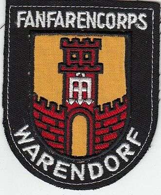 WARENDORF GERMANY FANFARENCORPS - 1980s Vintage WEST GERMAN MUSIC GROUP PATCH