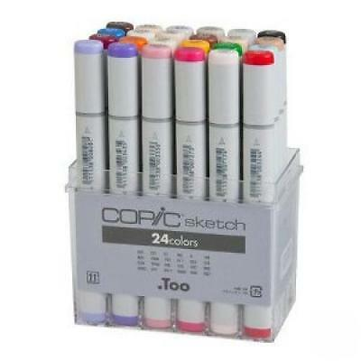 kt0817 New Too COPIC Sketch 24Colors Marker Set for Art Manga Anime Japan