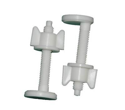 2 x Toilet Lid & Seat Plastic Nut and Bolt – Screws Seat with Basin / Pan