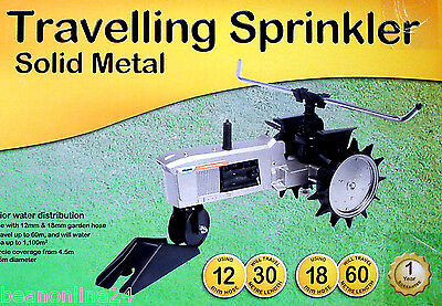Holman Solid Metal Monsoon Travelling Sprinkler - Waters up to 1100sq m