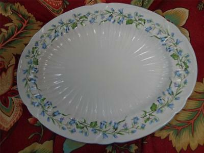 "SHELLEY HAREBELL PLATTER, BLUE TRIM, MADE IN ENGLAND, 12 1/2"" x 10"", GREAT GIFT"