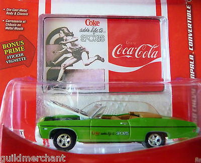 Johnny Lightning 1968 CHEVY IMPALA Coca-Cola COKE SPORTS '68 Impala Convertible