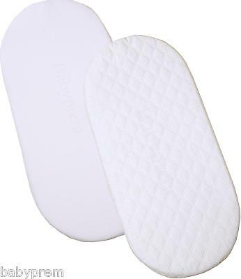 BabyPrem Baby Moses Basket Bassinet Mattress 67 x 30 cm Standard Quilted Bedding