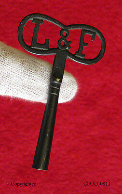 Rare L & F Dragon Fly Shaped Antique Old Skeleton Key Cuckoo Clock Vintage